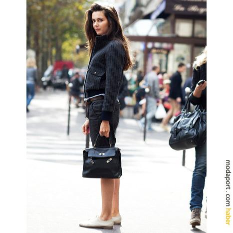 Paris sokak modasından: Oxfors ayakkabılı stil