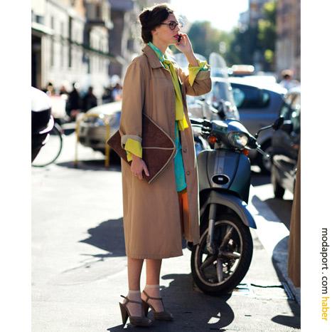 Milano sokak modasından: Trençkot ve renkler