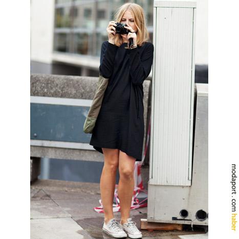 Londra sokak modasından: Siyah beyaz stil