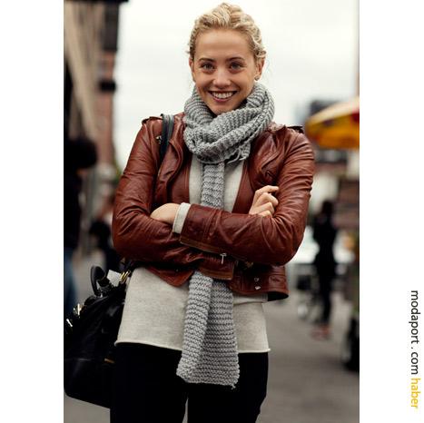 New York sokak modasından: Atkılı kış stili
