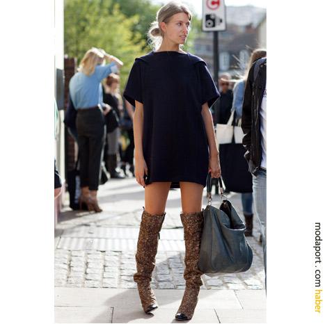 Londra sokak modasından: Uzun çizmeli tarz