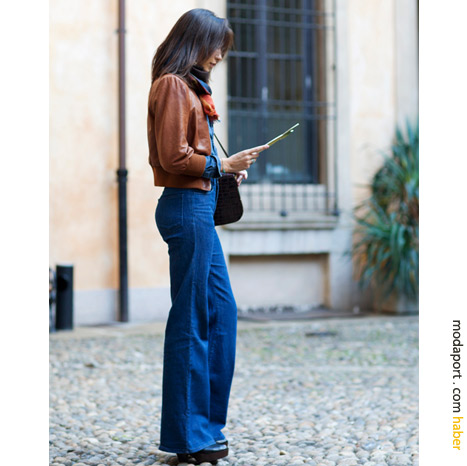 Milan sokak modasından ispanyol paça pantolon