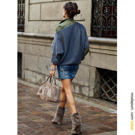 Madrid Sokak Modasından: Kürklü çizmeler