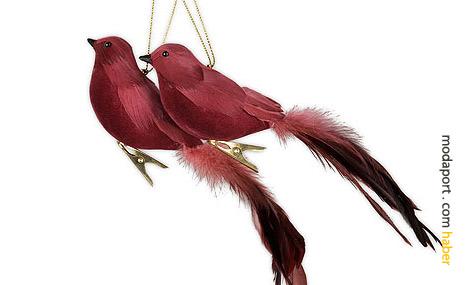 Zara Home'un en özgün noel / yılbaşı ağacı süslerinden biri de bu kuşlar..