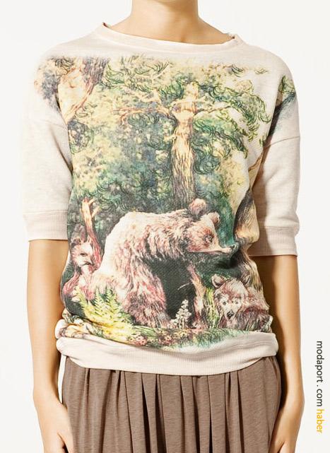 Kirpili orman t-shirt