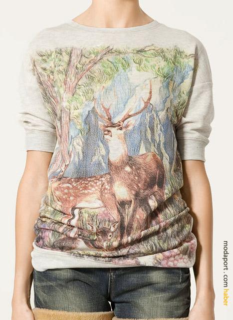 Geyikli t-shirt