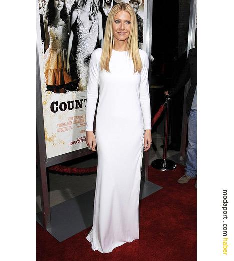 Gwyneth Paltrow'un şok edici beyaz elbisesi