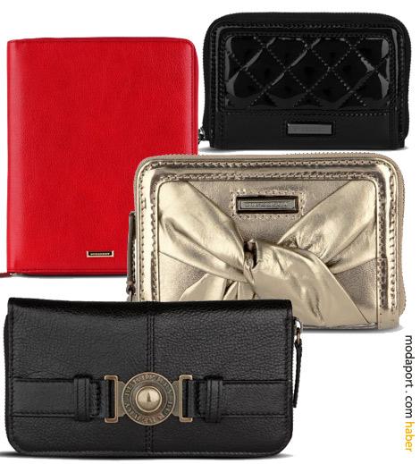 Burberry bayan cüzdanları ve kırmızı deriden i-pad kılıfı
