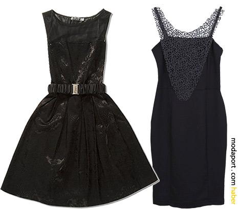Koton'un 50'ler stili elbiselerinden biri - 89,99TL. Modern dantelli askılı siyah elbise 69,99TL
