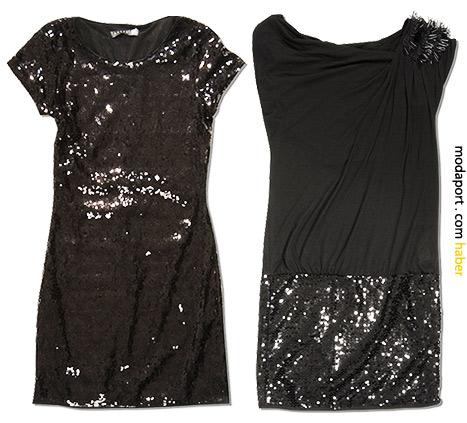 Payetli mini elbiseler.. Soldaki:69,99TL Sağdaki:79,99TL