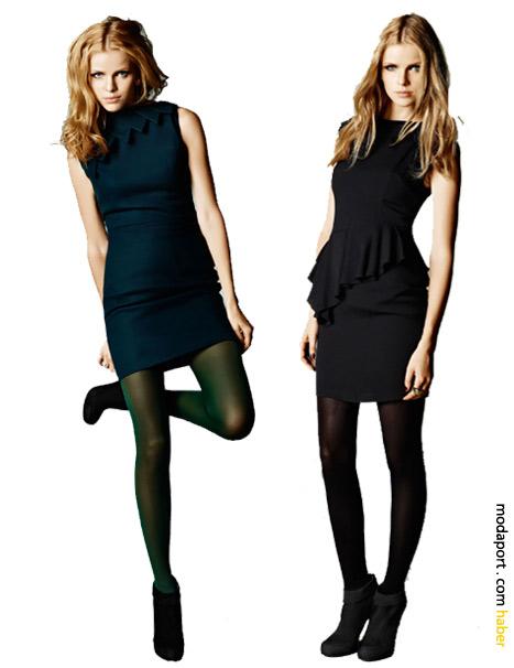 Siyah Koton elbiseler - Hakan Yıldırım. Soldakinin fiyatı 129,99TL. Sağdaki 89,99TL.