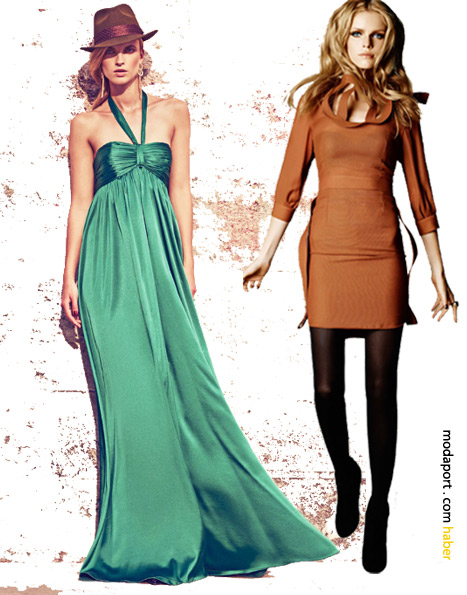 Koton elbiseler.. Sağdaki mini elbise Hakan Yıldırım tasarımı. Fiyatı 99,99 TL.