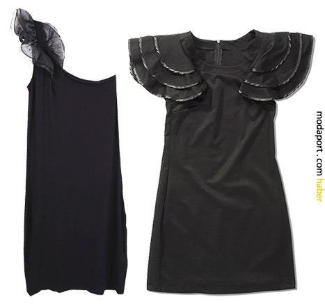 Ole gece elbiselerinden soldaki 49,99 TL, sağdaki 69,99 TL.