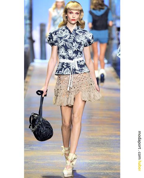 Christian Dior makrame etek, plaj için ideal