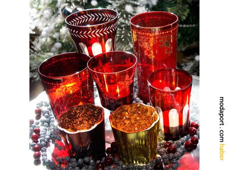 Mudo'nun cam mumlukları, mini yılbaşı hediyeleri için de güzel bir seçenek.