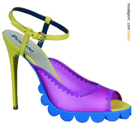 Nicholas Kirkwood'un Louise Gray for Pollini için tasarladığı çılgın topuklu ayakkabılar
