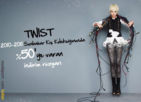 Twist de aynı anda Sonbahar 2010 Kış 2011 Sezonu indirimine girdi