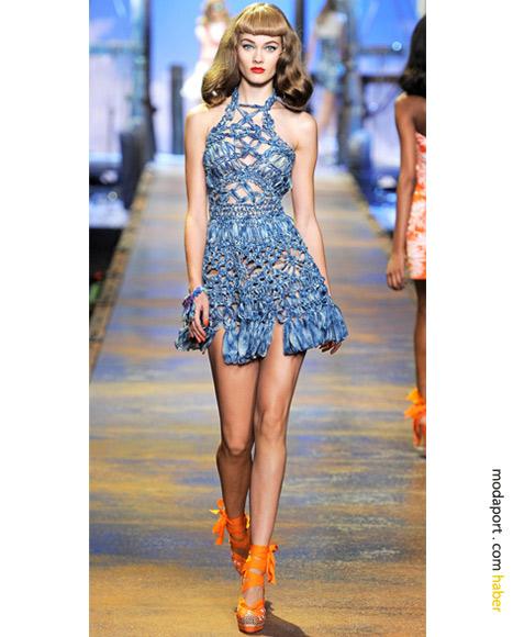 Christian Dior İlkbahar Yaz 2011: Makrame örgü elbise