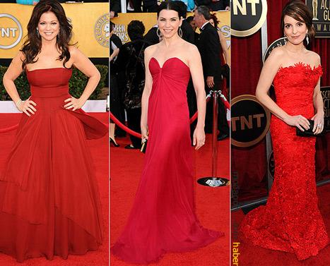 Kırmızı abiye elbiseler