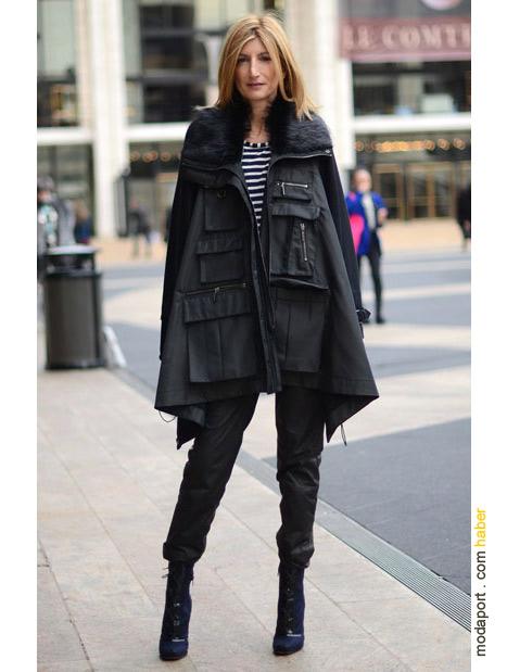 New York sokak modasından: pelerin ve topuklu botlar