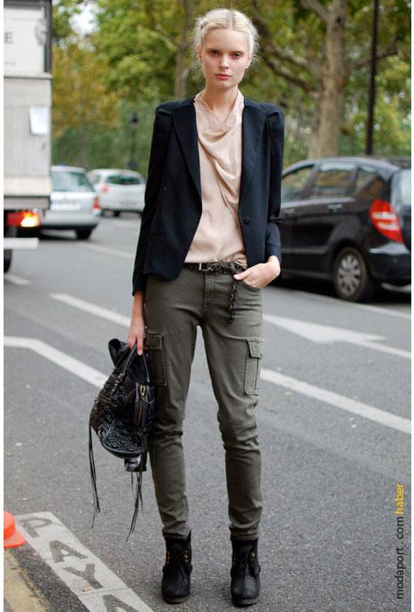 Paris sokak modasından bir ceket stili