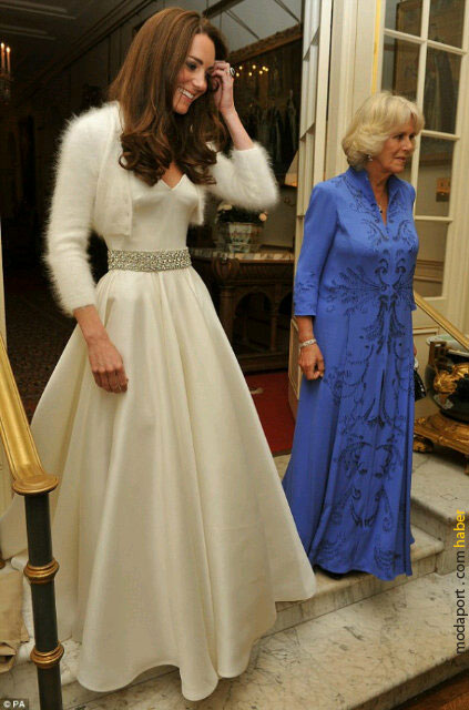 Prenses Kate ve kayınvalidesi Camilla Parker, düğün resepsiyonuna giderken..